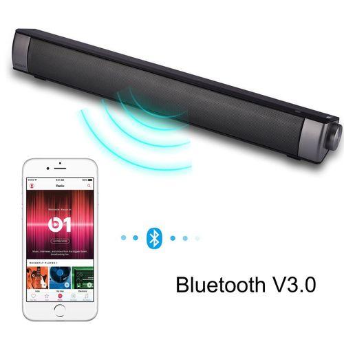 Bluetooth Soundbar Home Theater Computer Speaker Built-in Subwoofer