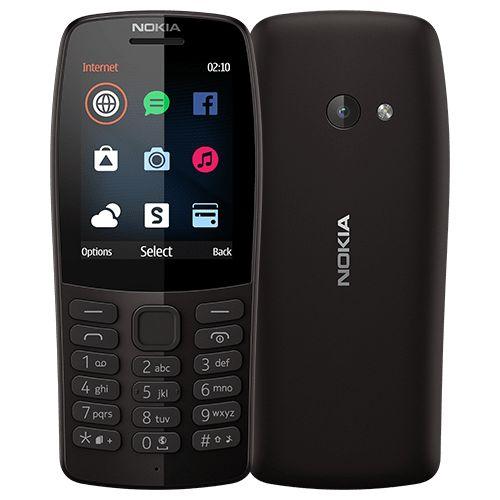 210 Dual SIM, Opera Mini, Camera, Torch, FM Phone - Black
