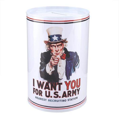 1Pc Money Savings Tin Box Coin Saver Bank Jar For Kids