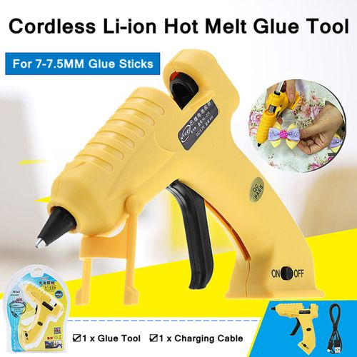 Rechargeable Cordless Li-ion Hot Melt Glue Repair Tool For 7-7.5MM Glue Sticks