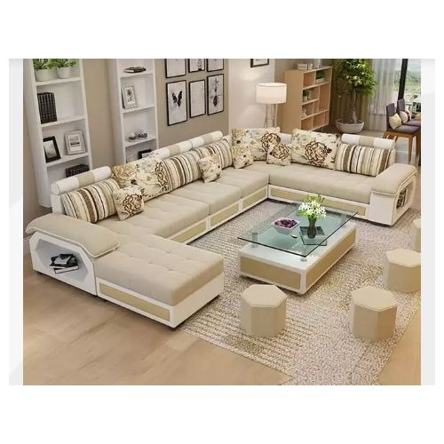 Brianna Custer Sectional Sofa+ 4free Ottoman-Free Delivery