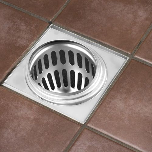 11.7cm Stainless Steel Square Shower Floor Drain Balcony Floor Drainage Gully