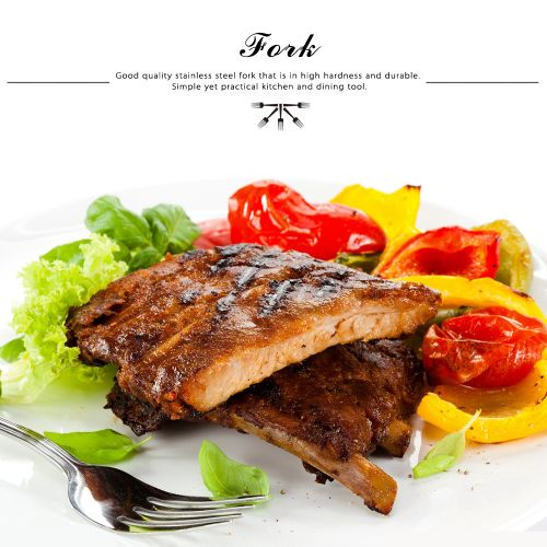Anself High-end Flatware Fork Western Tableware Stainless Steel Good Quality Steak Fork