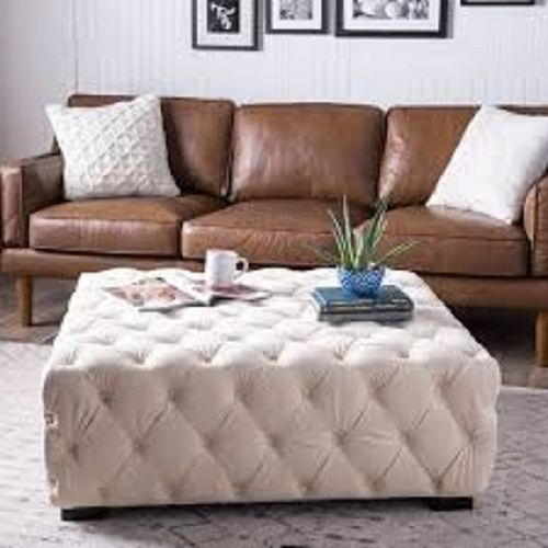 Leather Tuffed Ottoman (Lagos, Abj And Phc Orders Only)