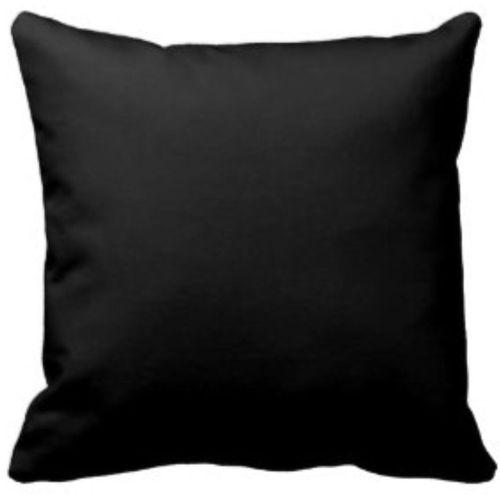 Plain Black Throw Pillow