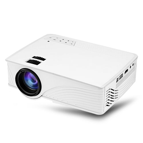 GP - 12 LED Projector 800 X 480 Pixels 2000 Lumens Support 1080P For Home Cinema-WHITE
