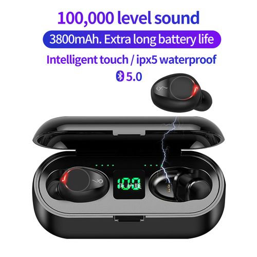 3800mAh Touch Earphones Wireless Earbuds Bluetooth5.0 F9