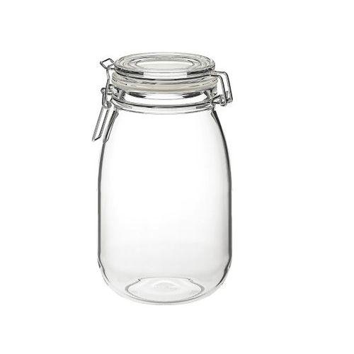 KORKEN 2-Piece Bottle With Stopper, Clear Glass, 0.5 L