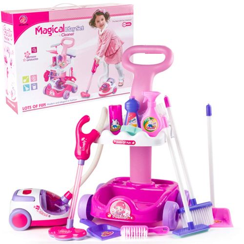 Kids Cleaning Trolley Vacuum Cleaner Set Simulation Toys