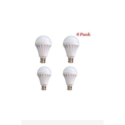 Rechargeable Bulb LED Light Bulb 5W Intelligent Emergency - Energy Saving Pin (4 Pack)
