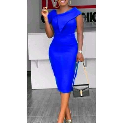 Fitted Corporate Gown- Royal Blue