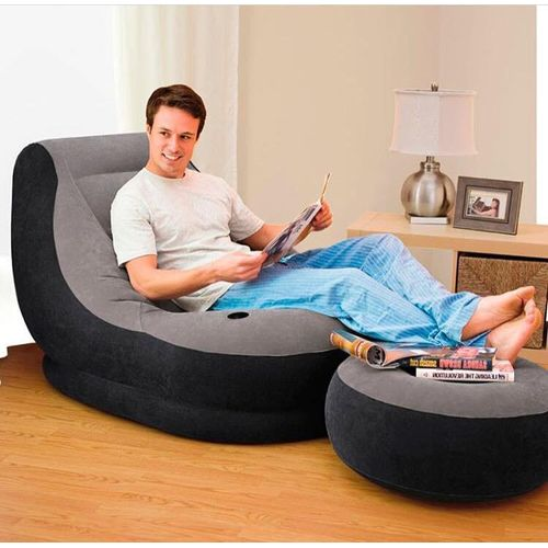 Intex Air Chair With Foot Rest (Free Pump) - Ultra Lounge