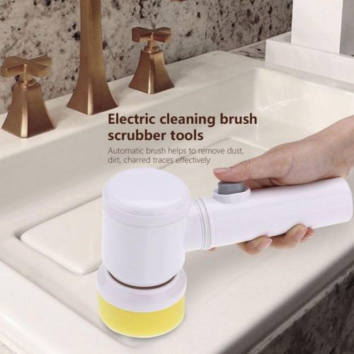 Battery Powered Cordless Electric Cleaning Brush Scrubber Tool For Kitchen Bathtub Shower Bidet
