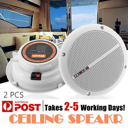 "2x 70W Pair Waterproof 7"" 2-Way Flush Mount Home Theater In-Wall/Ceiling Speaker"