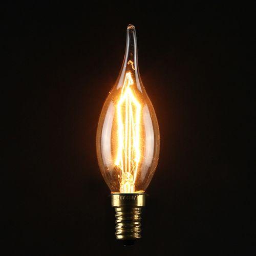 E14S 40W Vintage Antique Edison Style Carbon Filamnet Clear Glass Bulb