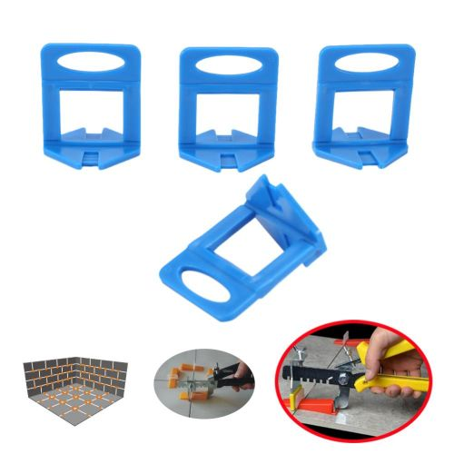 100pcs Blue Plastic Clips Floor Wall Tiling Level Spacers Tile Leveling System Tools