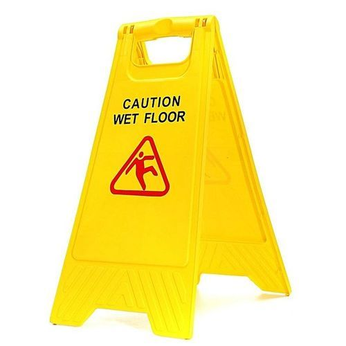 Caution Wet Floor Sign On Folding 'A' Board