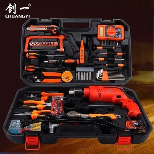 Tools Box Kit Set With Electric Drill Machine