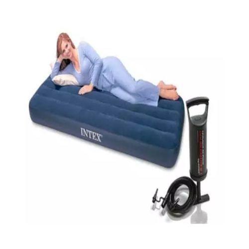 Inflatable Mattress Air Bed + Pump - Blue