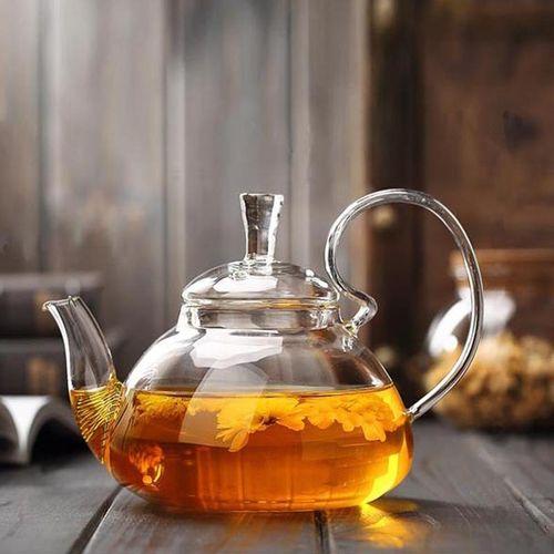 260ml/400ml/600ml/800ml Glass Teapot With Infuser Filter Home Office Tea Tools Drinkware Heat Resistant Flower Tea Pot Jug#800ml