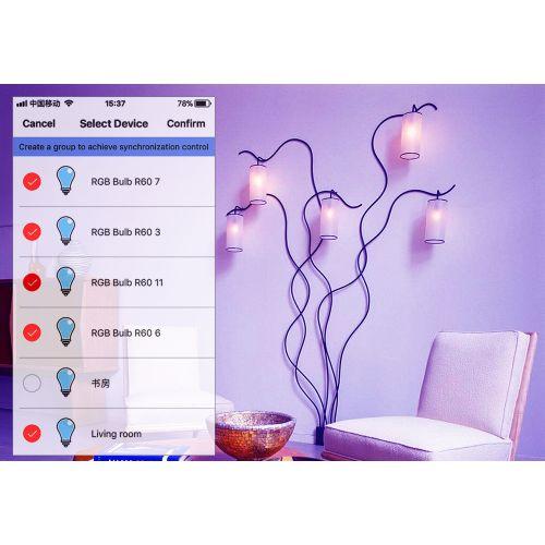 GU10 5W WiFi Smart APP RGBW LED Downlight Bulb Work With Alexa Home AC85-265V