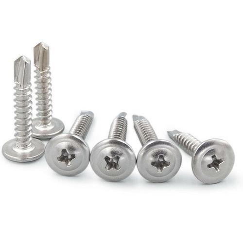 Self Drilling Stainless Steel Screws Button Head M4.2x16,19,25,32,38mm 50/300PCS [300pcs]