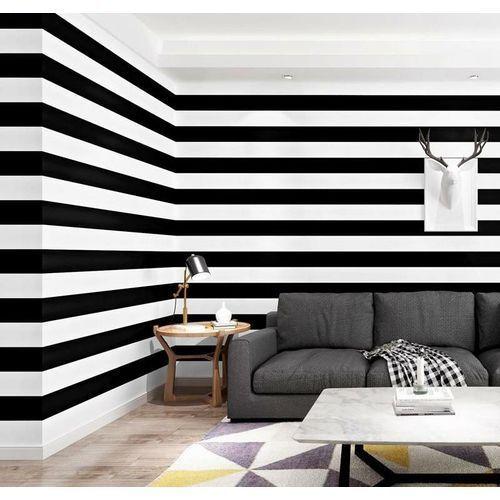 3D PVC Wall Paper Black & White