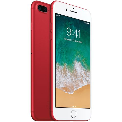 IPhone 7 Plus 5.5'' Inch 128GB+3GB-12MP+7MP With Fingerprint(Refurbished)-Red