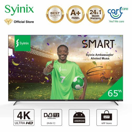 "Syinix 55"" Inch TV Android 4K UHD Smart LED TV - T710U Series"