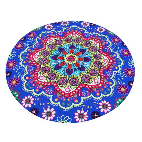Fudaolom ShopLotus Hippie Round Tapestry Flowers Beach Throw Cushion Towel Yoga Mat Bohemian