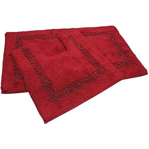 2 Bathmats Set - Red