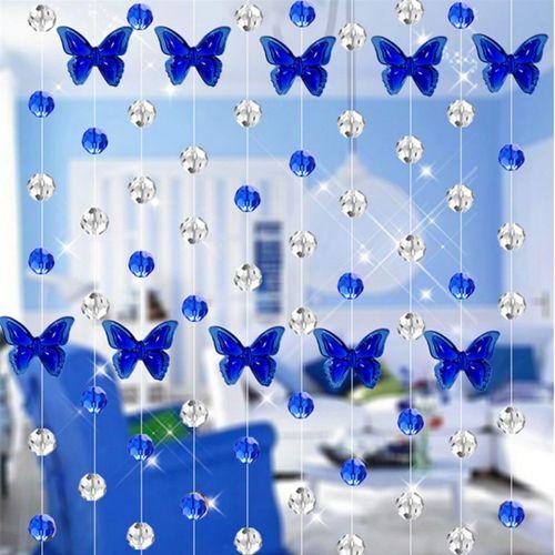 Elegant Home Decoration Crystal Glass Bead Curtain Super Living Room Bedroom Window Door Wedding Decor-Blue