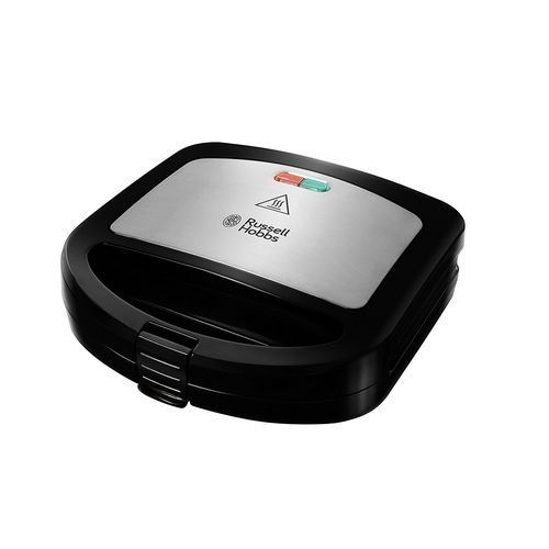 Excellent 2 Portion Deep Fill Sandwich Maker & Toaster - With Dishwasher-Safe Non-Stick Coated Plates - 760W - Black