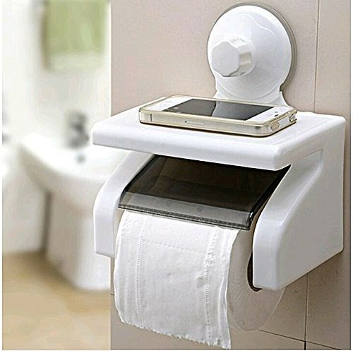 Contemporary Tissue Holder With Suction Cup
