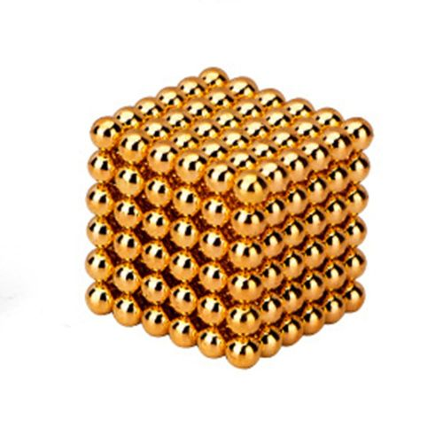 Magic Magnet Balls 216pcs Strong Magnetic Puzzle Game For Stress Relief Gold