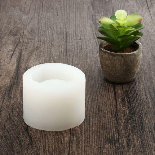 Handmade Geometric Silicone Flower Pot Mold Ceramic Concrete Vase Molding Craft