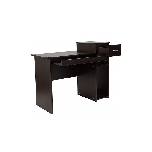 Computer Desk With Shelves And Drawer (espresso) (Delivered Within Lagos)