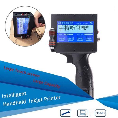 Protable Handheld Smart Date Coder Inkjet Printer Ink Coding Machine LED Screen