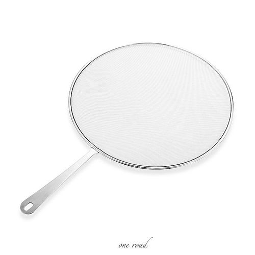 Stainless Steel Grease Spatter Sieve For Cooking