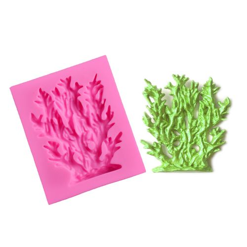 DIY Silicone Cake Mold Seaweed Coral Mould Decorating Tool For Baking Fondant Cupcake Dessert