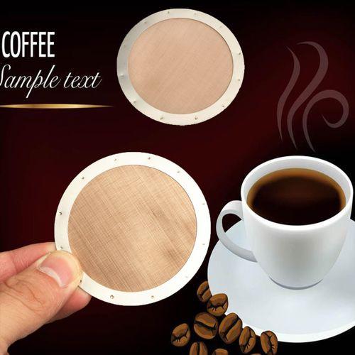 Ultra Fine Metal Coffee Filter Disk Reusable Espresso Golden Mesh For Aeropress