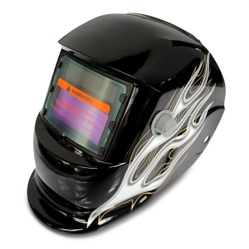 Honeysuckle Pattern Automatic Variable Light Electric Welding Protective Mask-COLORMIX