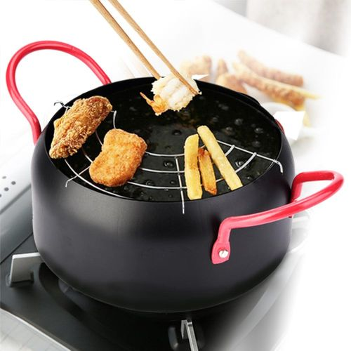 Household Kitchen Cooking Fryer Round Frying Pot
