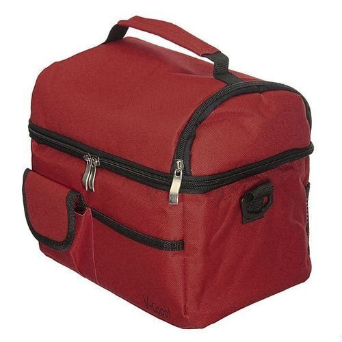 Travel BBQ Camping Picnic Lunch Insulated Cooler Cool Ice Bag Food Drink Carrier Wine Red