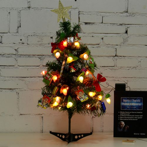 60cm Tabletop Artificial Small Mini Christmas Tree With LED Light Xmas Ornaments
