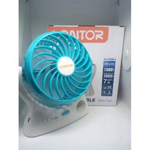 Lontor Mini Fan Rechargeable Desktop Fan With Free Usb