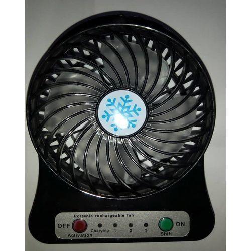 Mini Rechargeable Fan - Blac