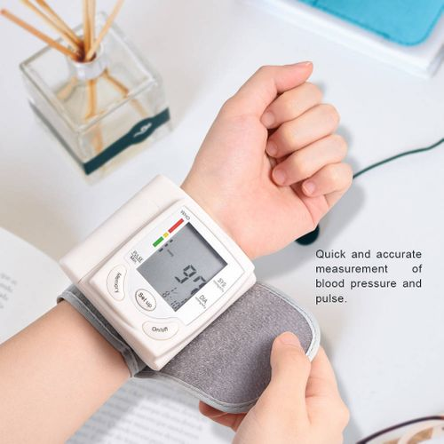 Automatic Digital LCD Wrist Cuff Blood Pressure Monitor Machine Measurement Home