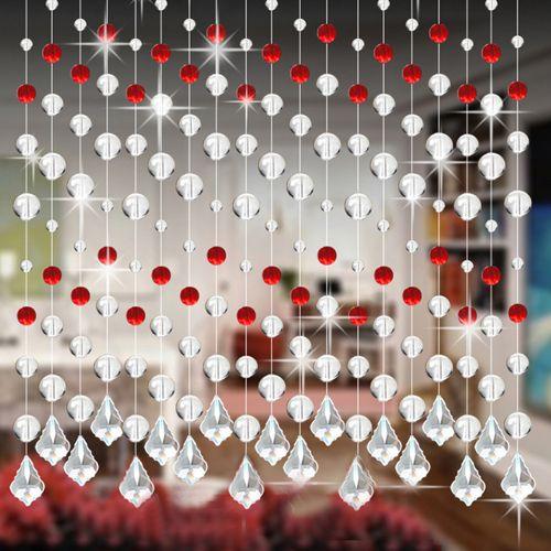 Watermalend Crystal Glass Bead Curtain Luxury Living Room Bedroom Window Door Wedding Decor