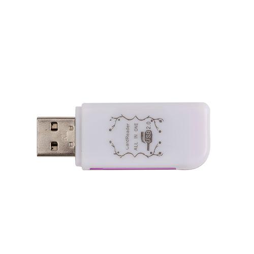 4-In-1 USB 2.0 Card Reader Multi-port Card Reader For
